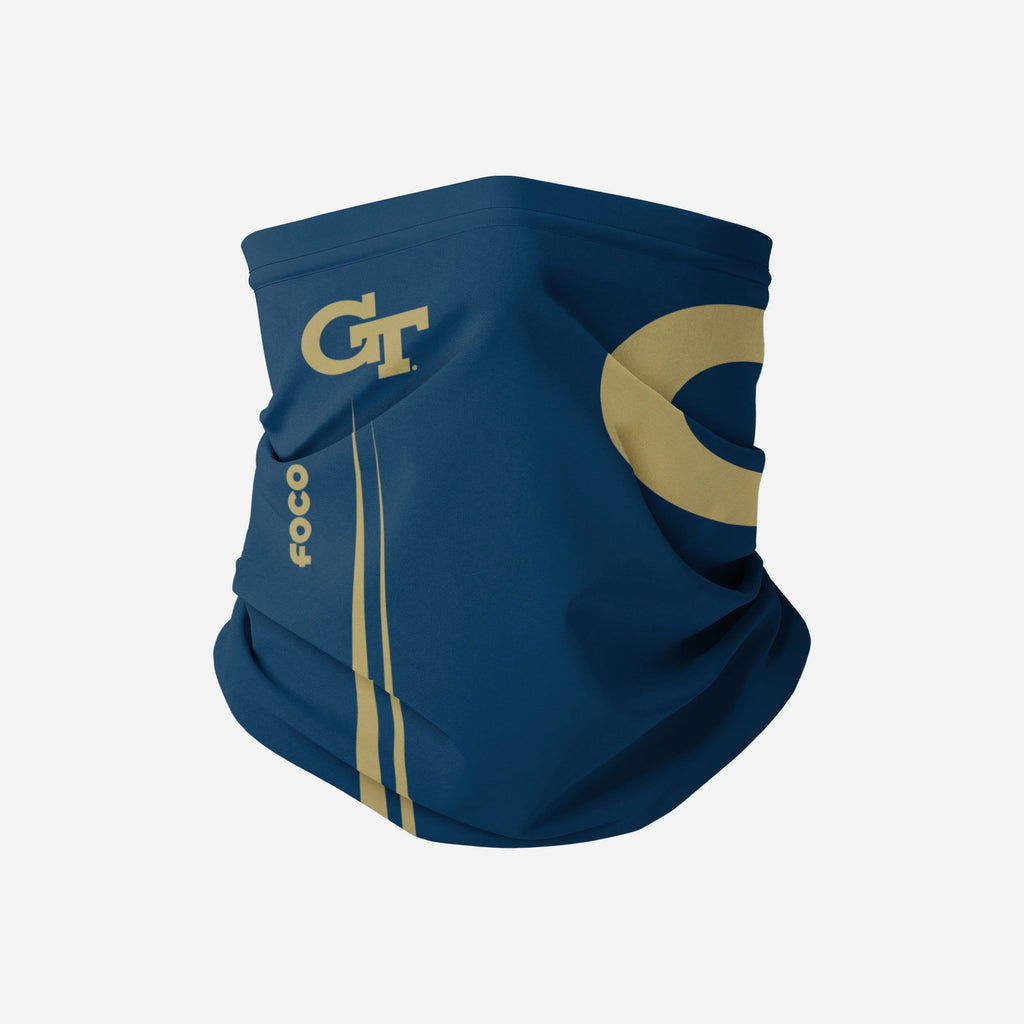 Georgia Tech Yellow Jackets On-Field Sideline Logo Gaiter Scarf FOCO - FOCO.com