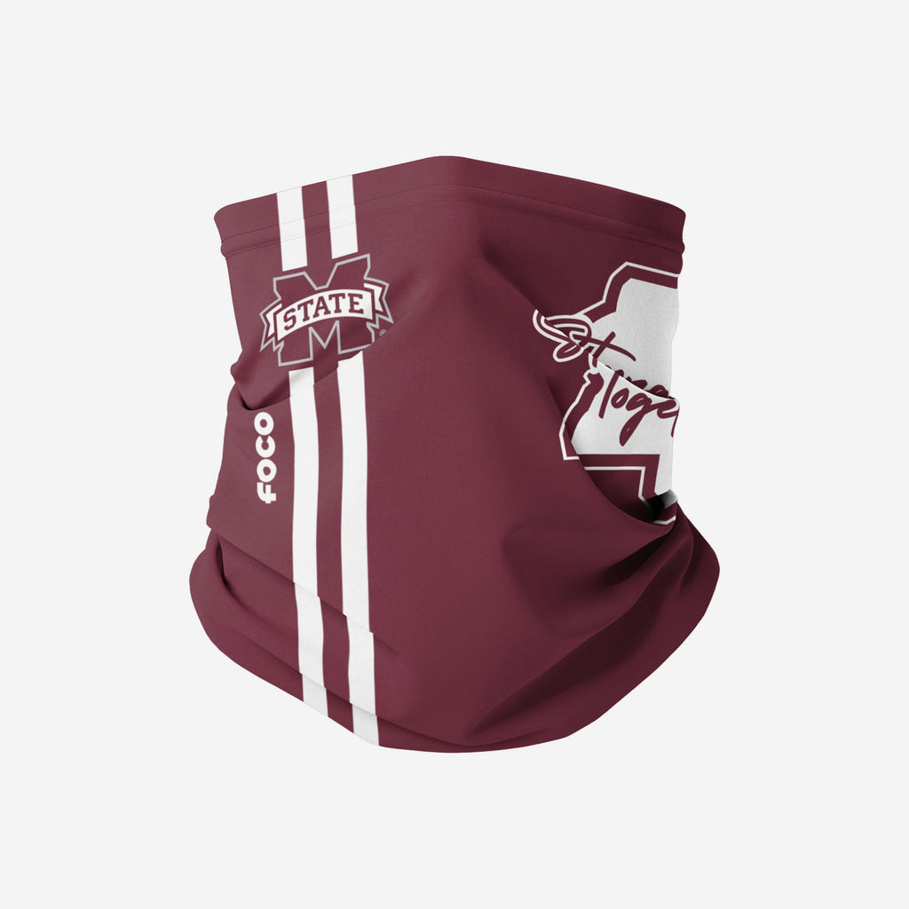 Mississippi State Bulldogs On-Field Sideline Logo Stronger Together Gaiter Scarf FOCO - FOCO.com