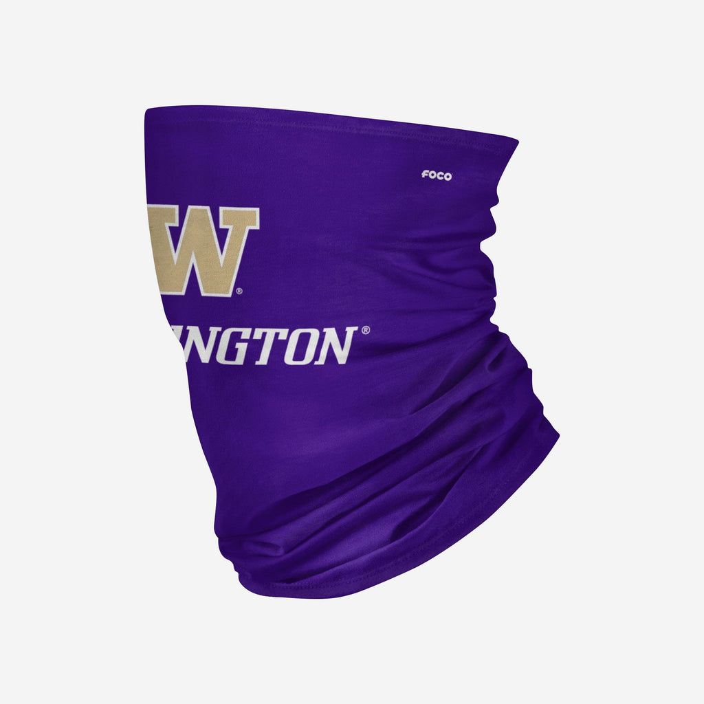Washington Huskies Team Logo Stitched Gaiter Scarf FOCO - FOCO.com