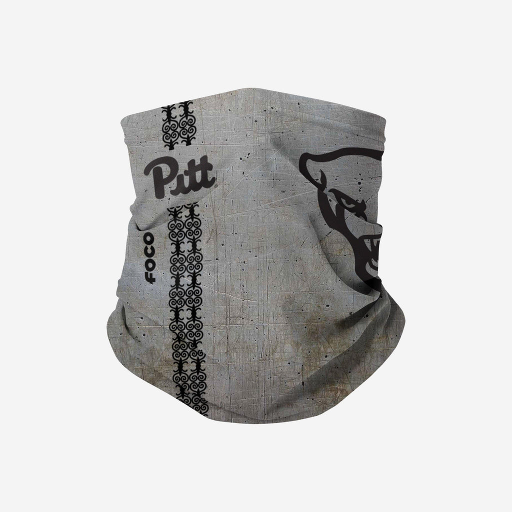 Pittsburgh Panthers On-Field Sideline Steel Stripe Big Logo Gaiter Scarf FOCO - FOCO.com