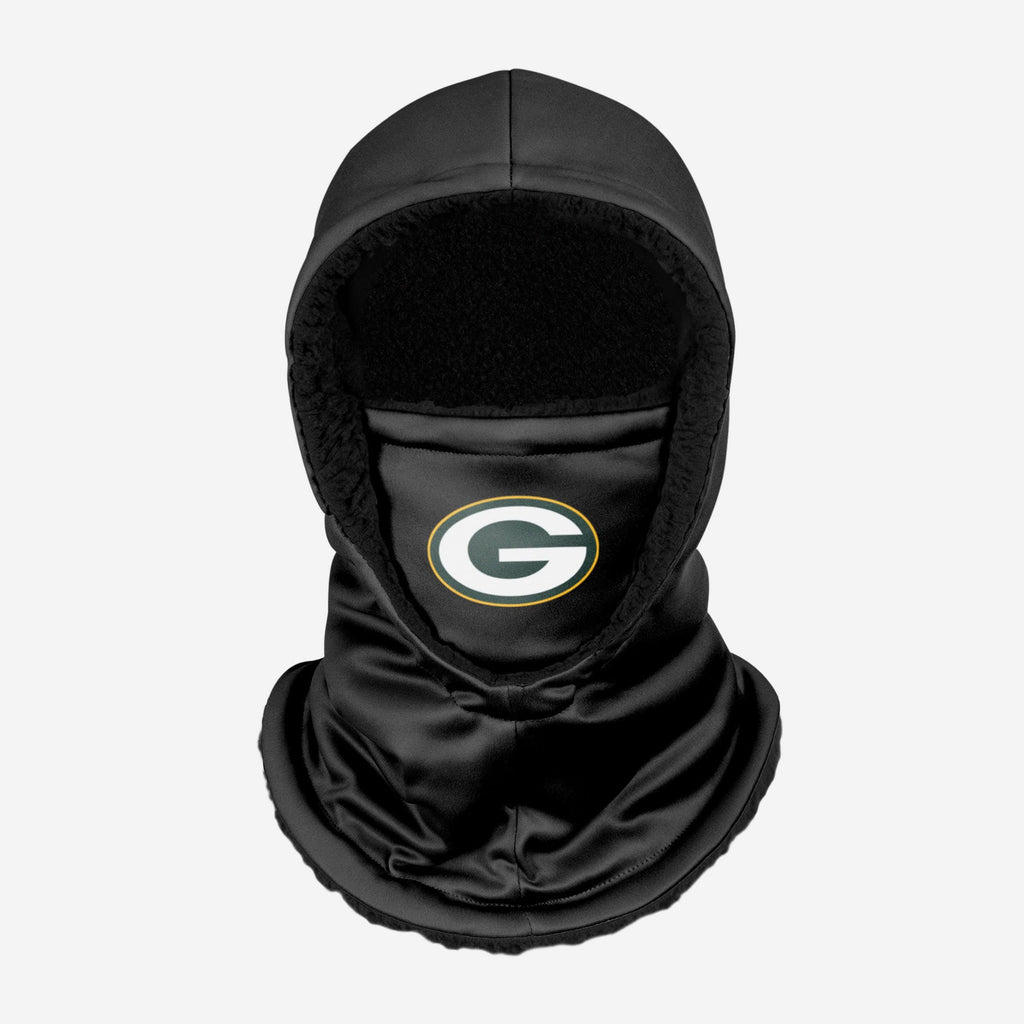 Green Bay Packers Black Hooded Gaiter FOCO - FOCO.com