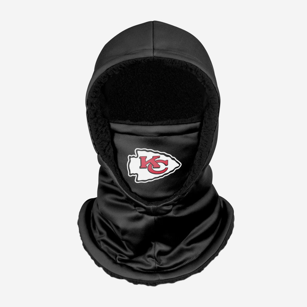 Kansas City Chiefs Black Hooded Gaiter FOCO - FOCO.com