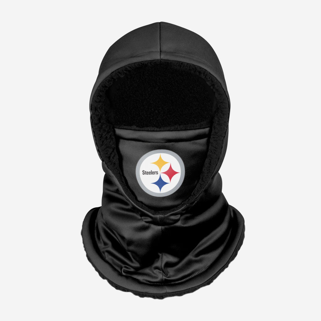 Pittsburgh Steelers Black Hooded Gaiter FOCO - FOCO.com