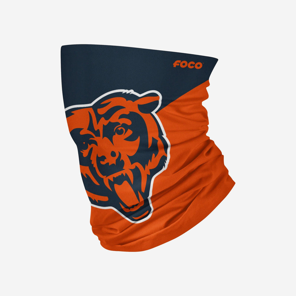 Chicago Bears Big Logo Gaiter Scarf FOCO Adult - FOCO.com