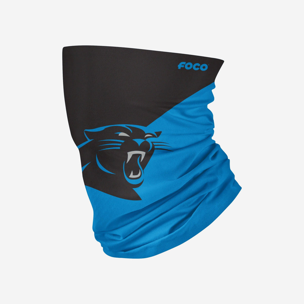 Carolina Panthers Big Logo Gaiter Scarf FOCO Adult - FOCO.com