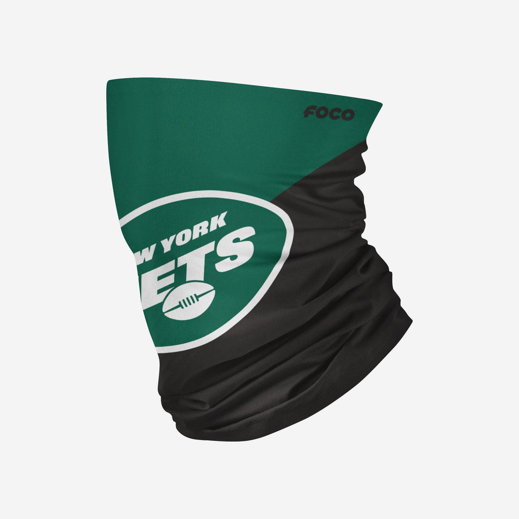 New York Jets Big Logo Gaiter Scarf FOCO Adult - FOCO.com