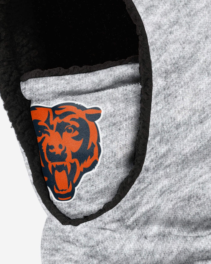 Chicago Bears Heather Grey Big Logo Hooded Gaiter FOCO - FOCO.com