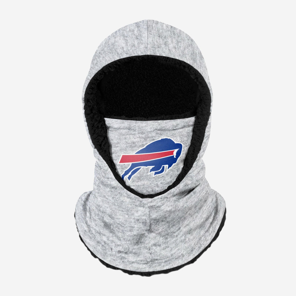 Buffalo Bills Heather Grey Big Logo Hooded Gaiter FOCO - FOCO.com