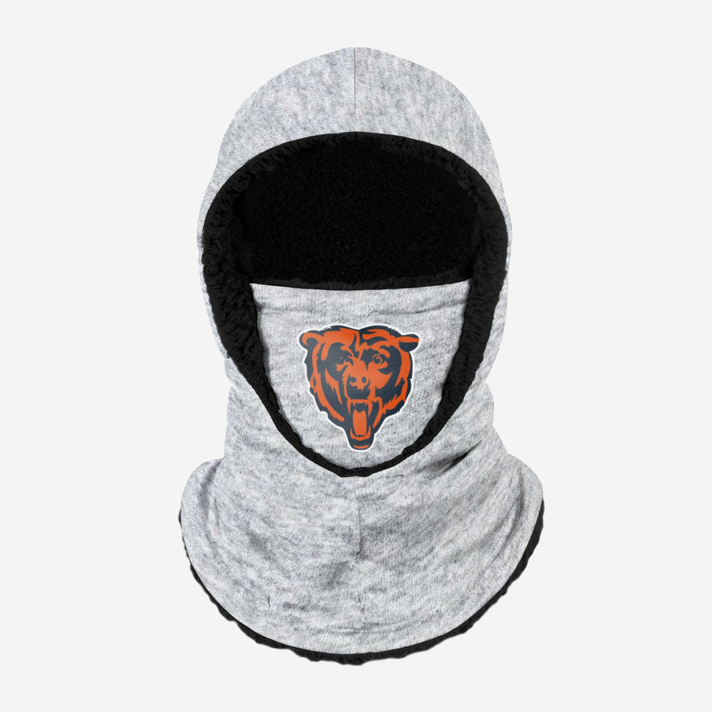 Chicago Bears Heather Grey Big Logo Hooded Gaiter FOCO Adult - FOCO.com