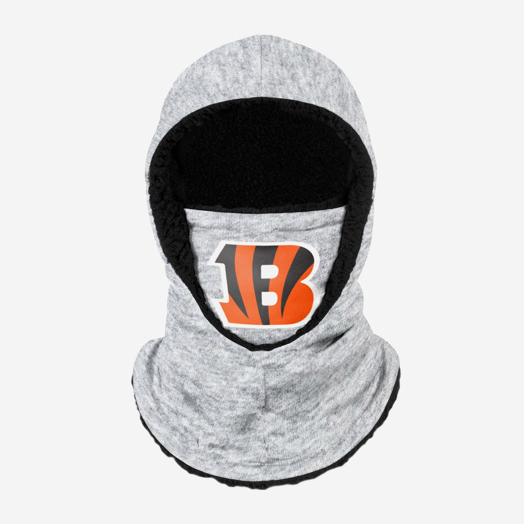 Cincinnati Bengals Heather Grey Big Logo Hooded Gaiter FOCO Adult - FOCO.com