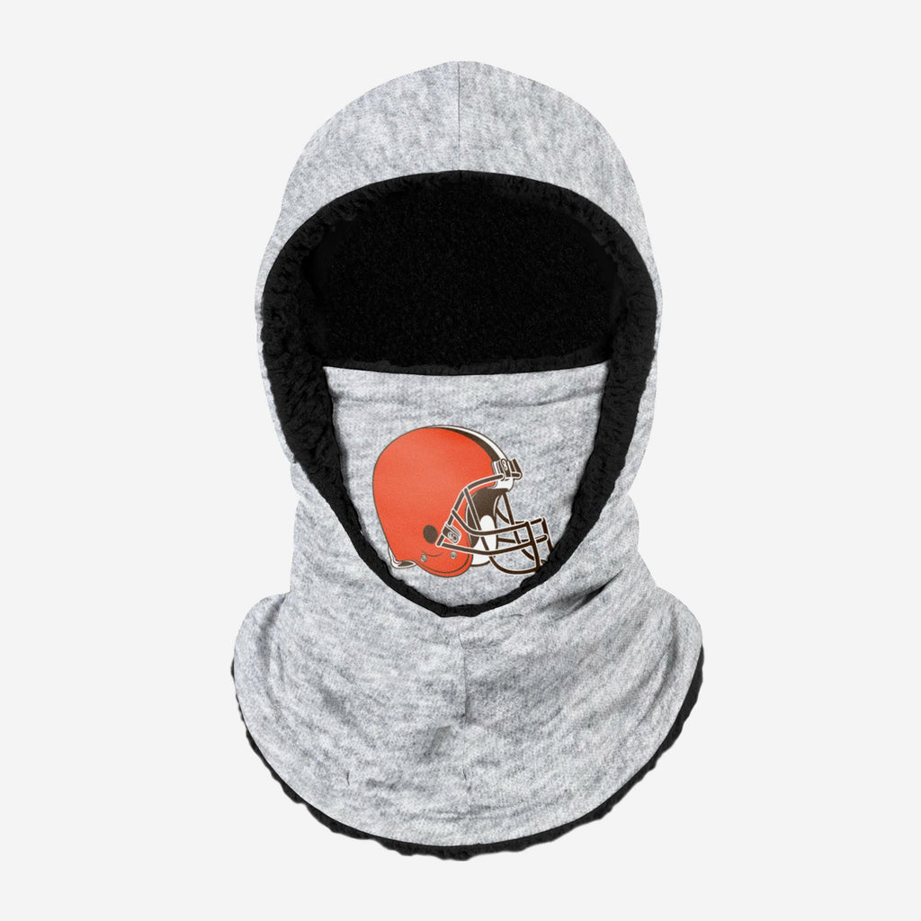 Cleveland Browns Heather Grey Big Logo Hooded Gaiter FOCO Adult - FOCO.com