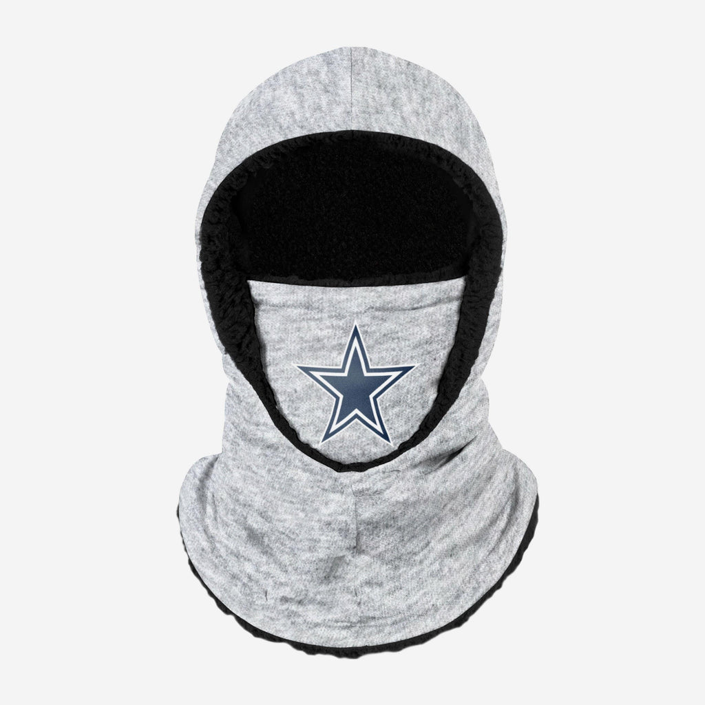 Dallas Cowboys Heather Grey Big Logo Hooded Gaiter FOCO - FOCO.com