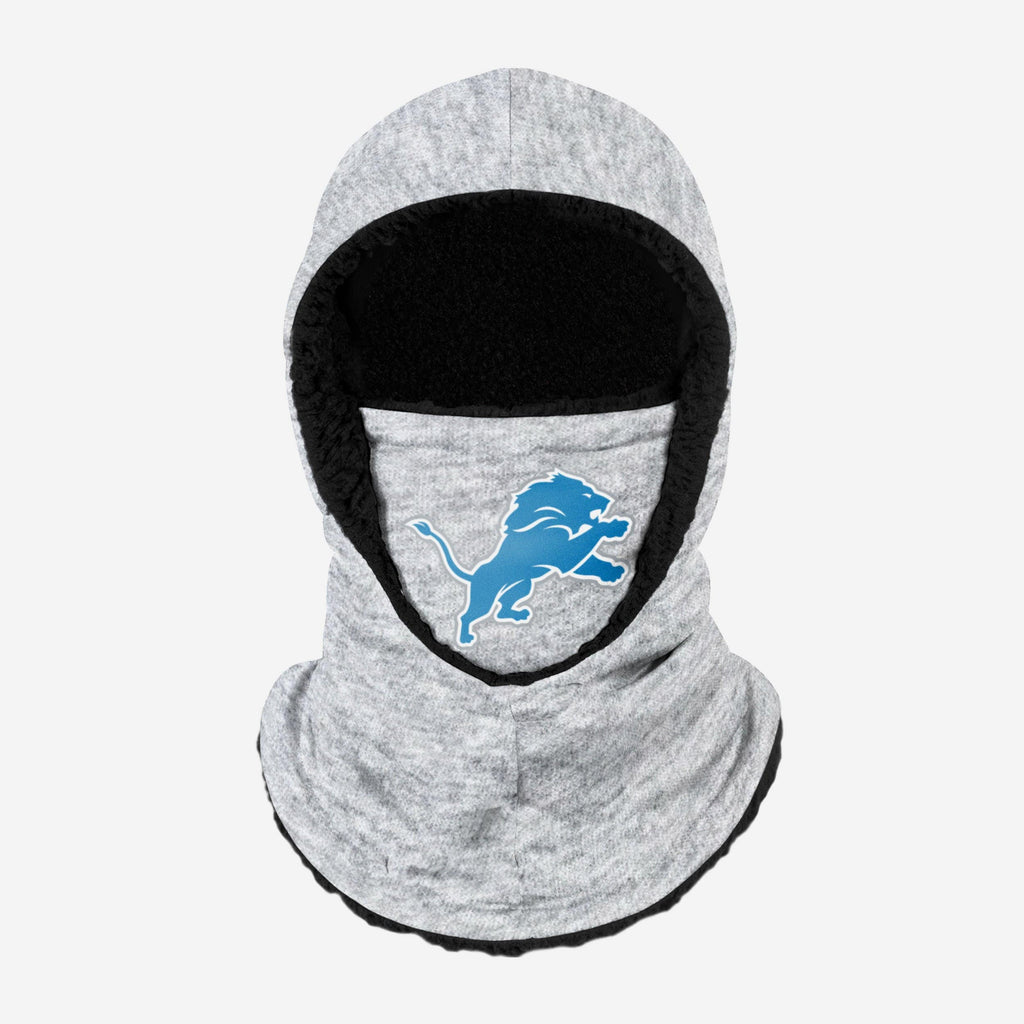 Detroit Lions Heather Grey Big Logo Hooded Gaiter FOCO - FOCO.com