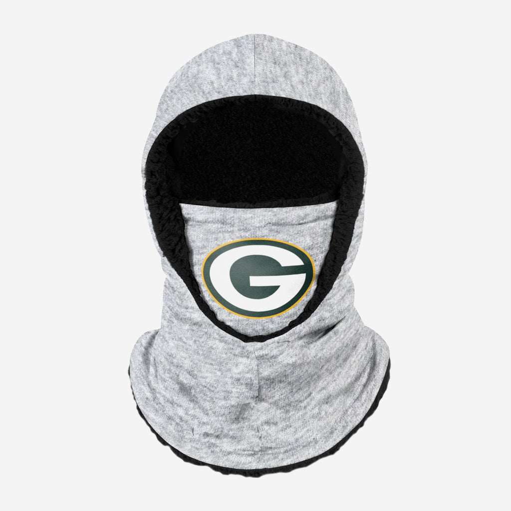 Green Bay Packers Heather Grey Big Logo Hooded Gaiter FOCO - FOCO.com
