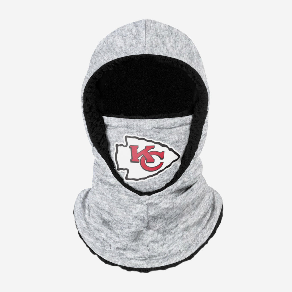 Kansas City Chiefs Heather Grey Big Logo Hooded Gaiter FOCO Adult - FOCO.com