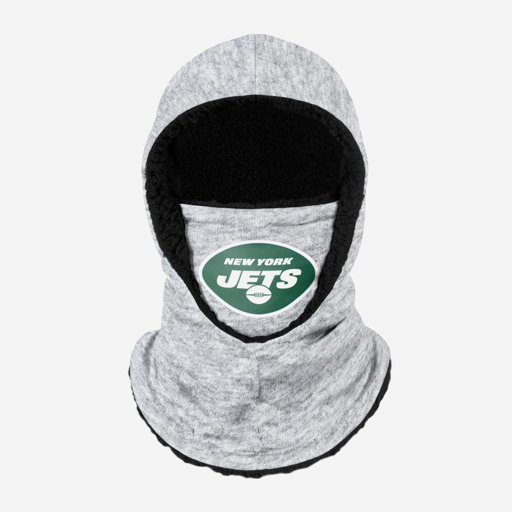 New York Jets Heather Grey Big Logo Hooded Gaiter FOCO - FOCO.com