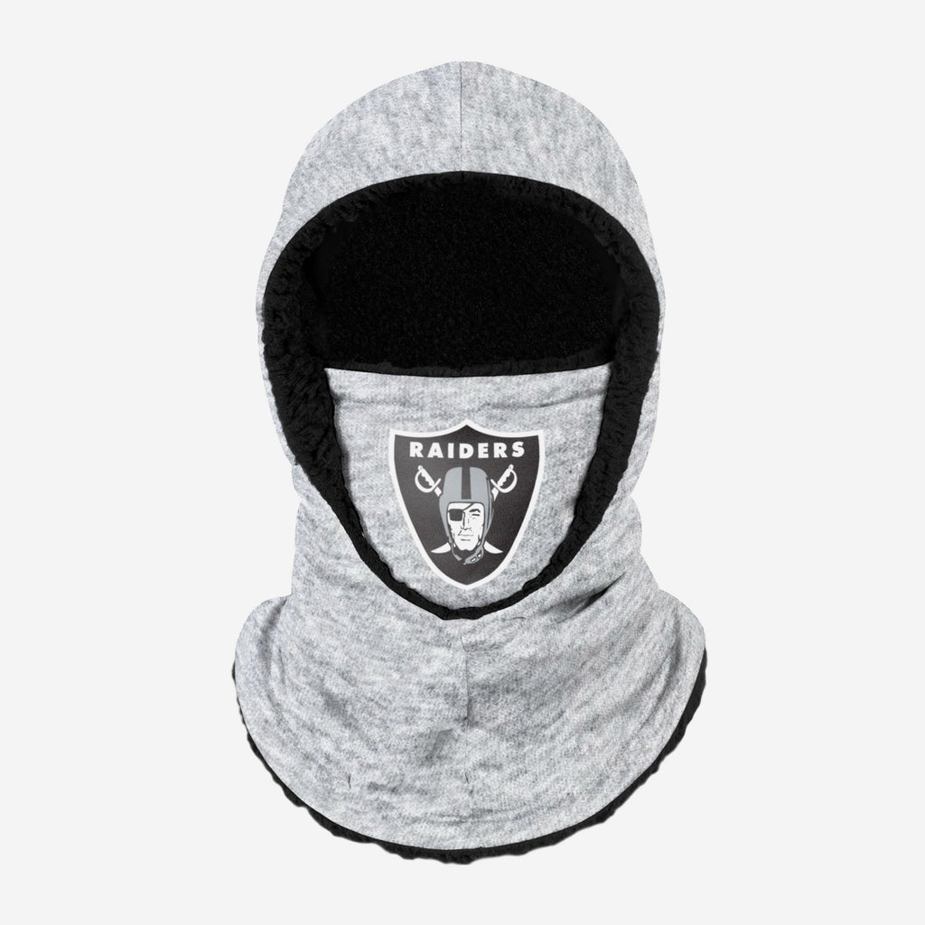 Las Vegas Raiders Heather Grey Big Logo Hooded Gaiter FOCO - FOCO.com