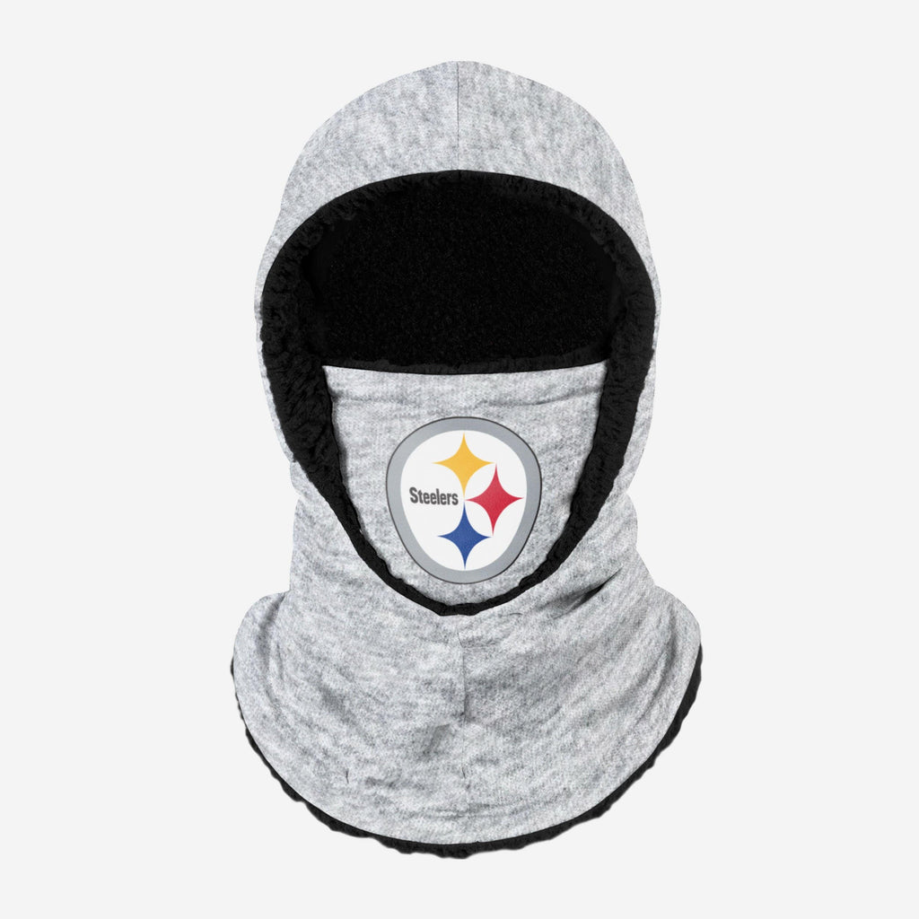 Pittsburgh Steelers Heather Grey Big Logo Hooded Gaiter FOCO - FOCO.com