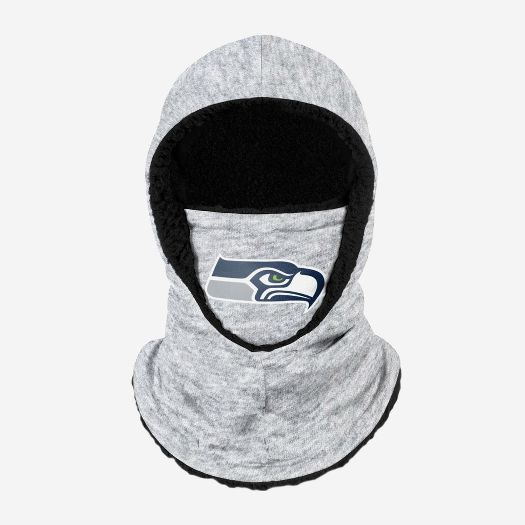 Seattle Seahawks Heather Grey Big Logo Hooded Gaiter FOCO - FOCO.com