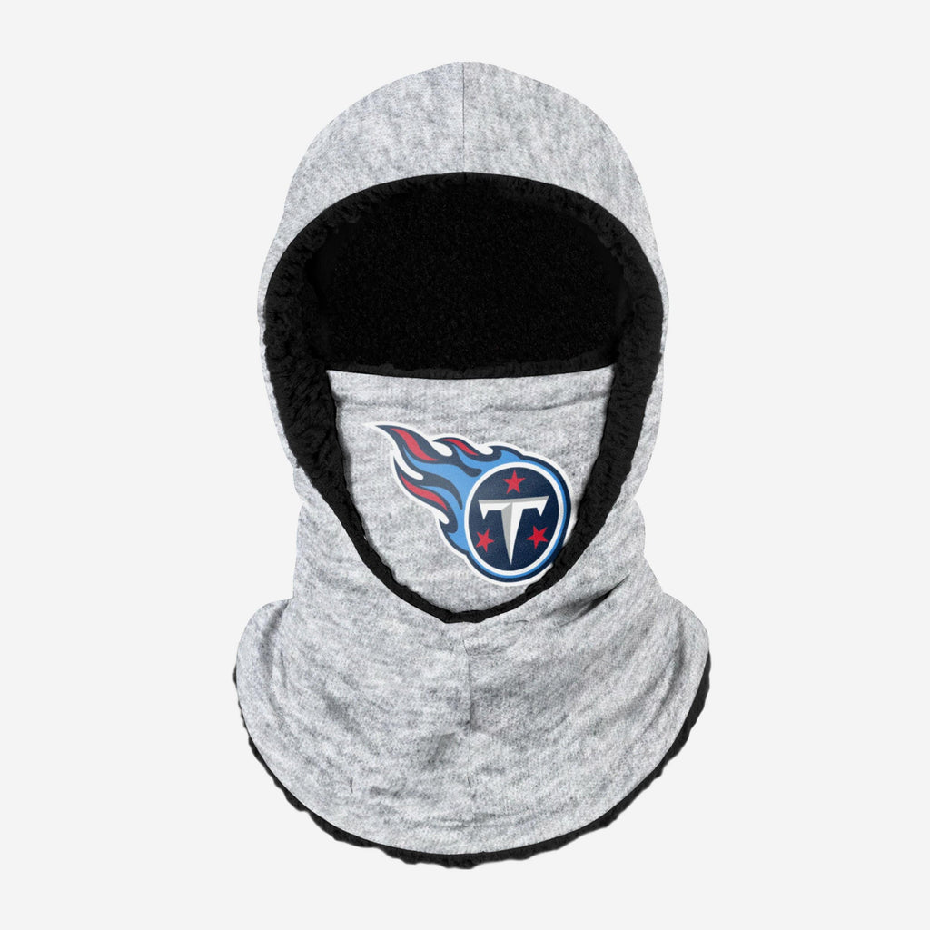 Tennessee Titans Heather Grey Big Logo Hooded Gaiter FOCO - FOCO.com