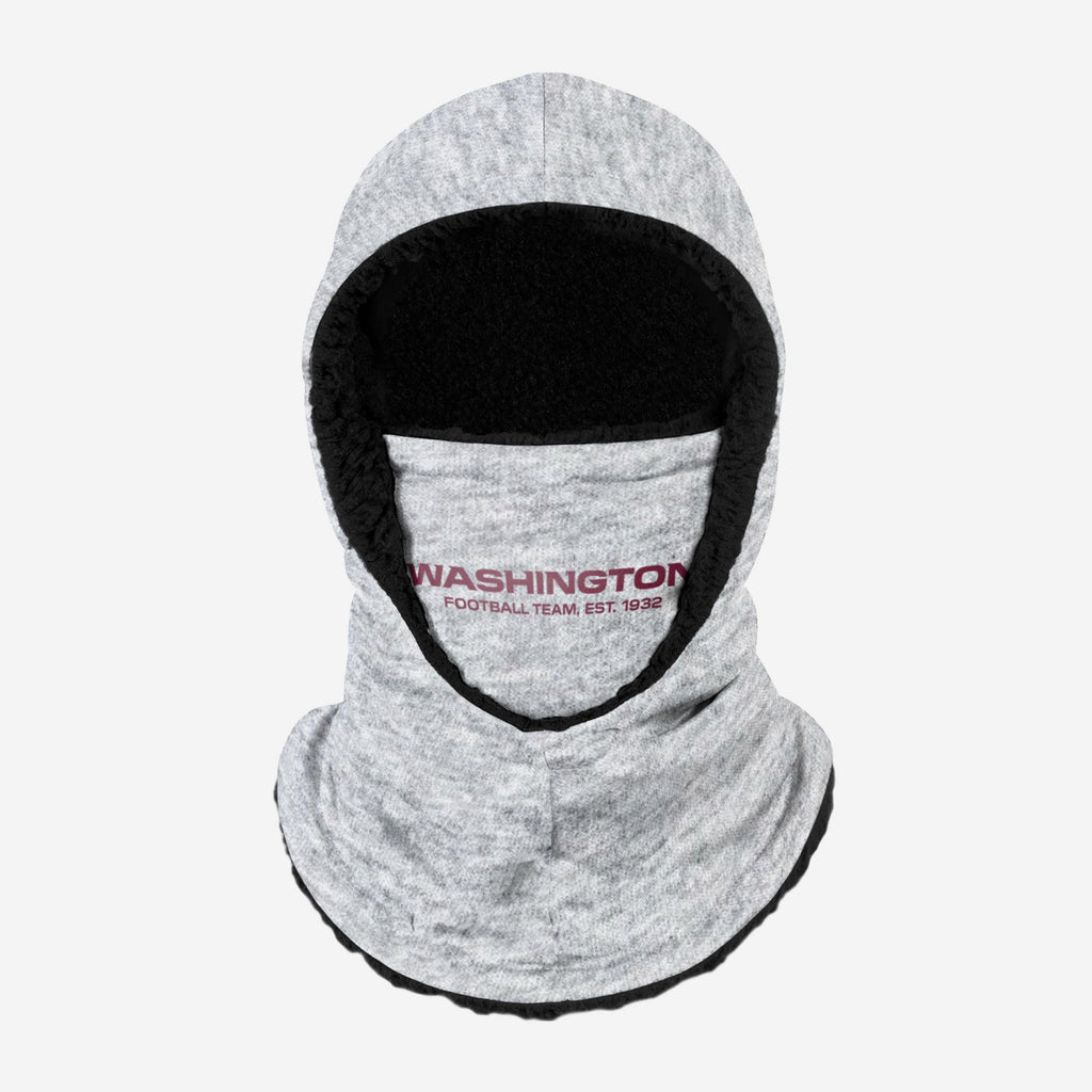 Washington Football Team Heather Grey Big Logo Hooded Gaiter FOCO Adult - FOCO.com