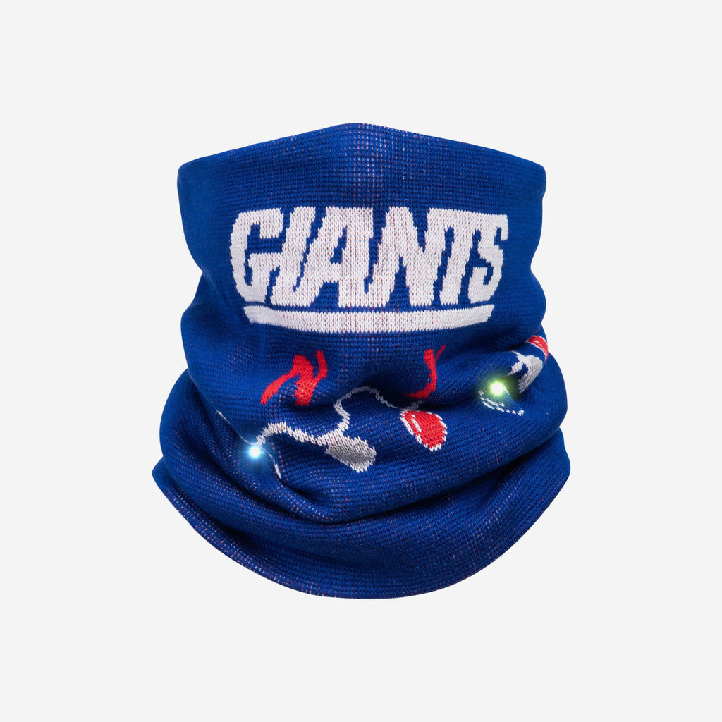 New York Giants Light Up Knit Gaiter Scarf FOCO - FOCO.com