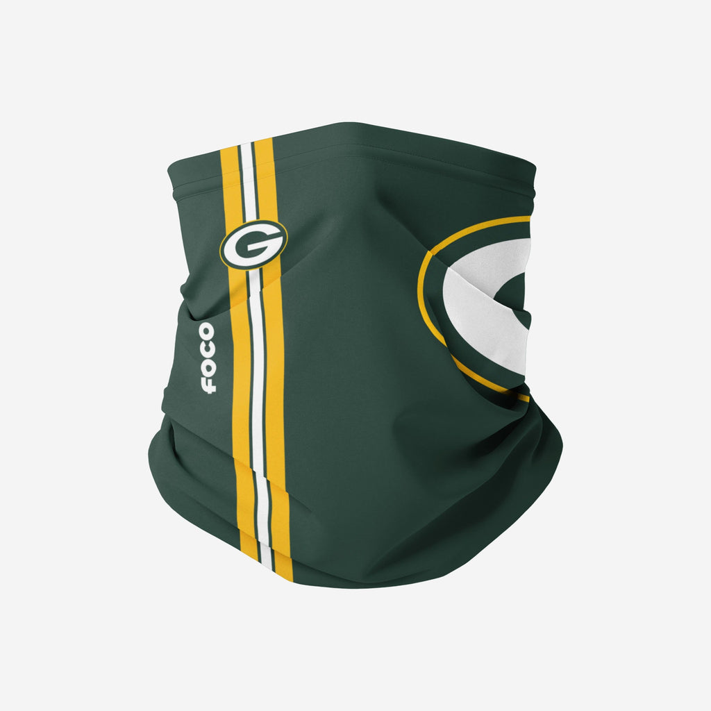 Green Bay Packers On-Field Sideline Logo Gaiter Scarf FOCO Adult - FOCO.com