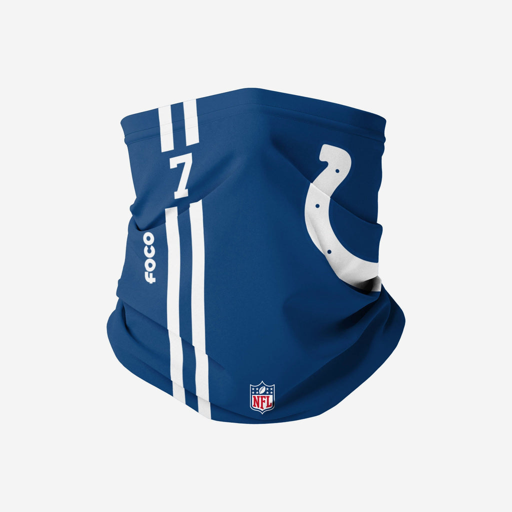 Jacoby Brissett Indianapolis Colts On-Field Sideline Logo Gaiter Scarf FOCO - FOCO.com