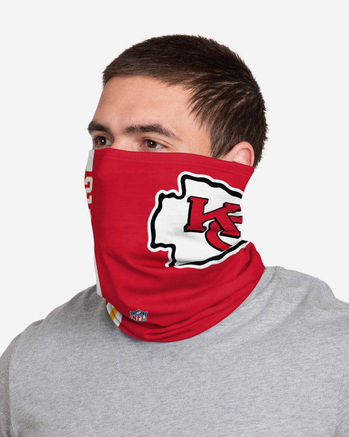 Tyrann Mathieu Kansas City Chiefs On-Field Sideline Logo Gaiter Scarf FOCO - FOCO.com