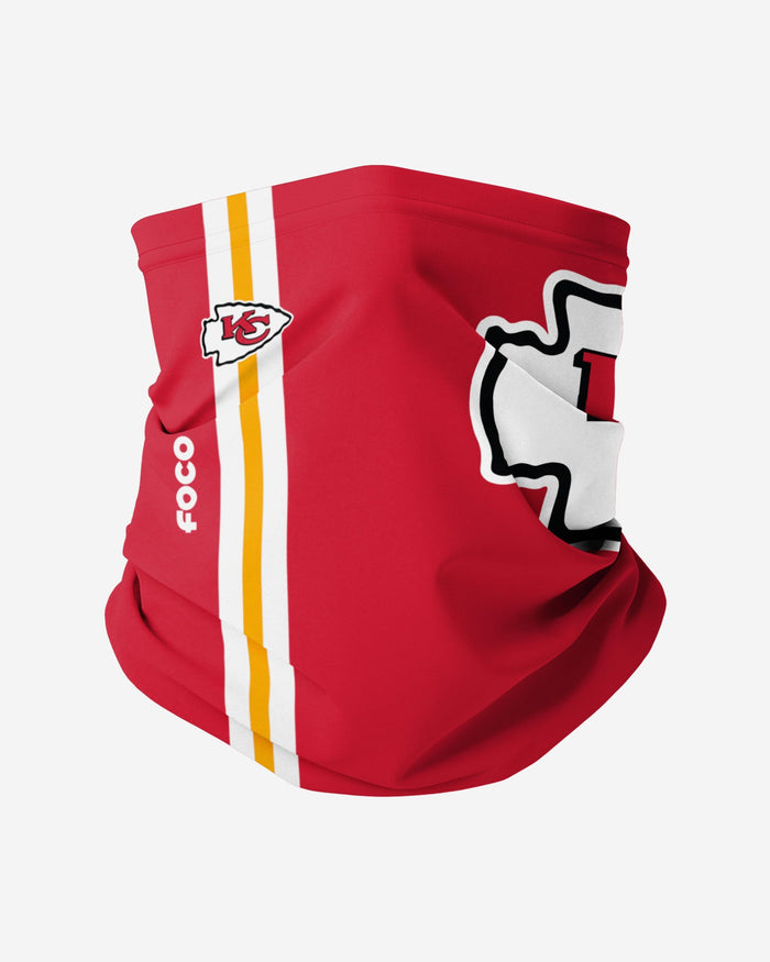 Kansas City Chiefs On-Field Sideline Logo Gaiter Scarf FOCO Adult - FOCO.com