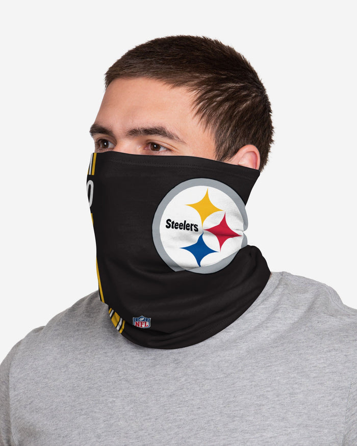 James Connor Pittsburgh Steelers On-Field Sideline Logo Gaiter Scarf FOCO - FOCO.com