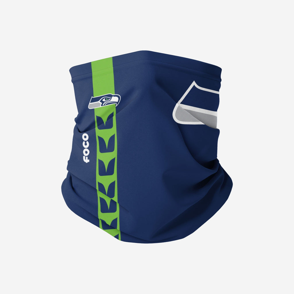 Seattle Seahawks On-Field Sideline Logo Gaiter Scarf FOCO Adult - FOCO.com