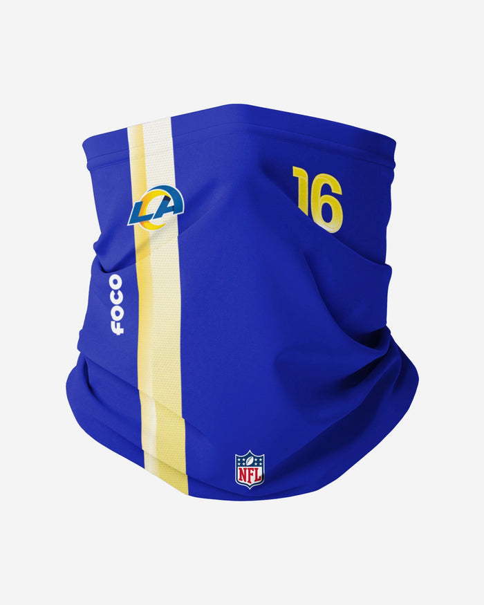 Jared Goff Los Angeles Rams On-Field Sideline Gaiter Scarf FOCO - FOCO.com