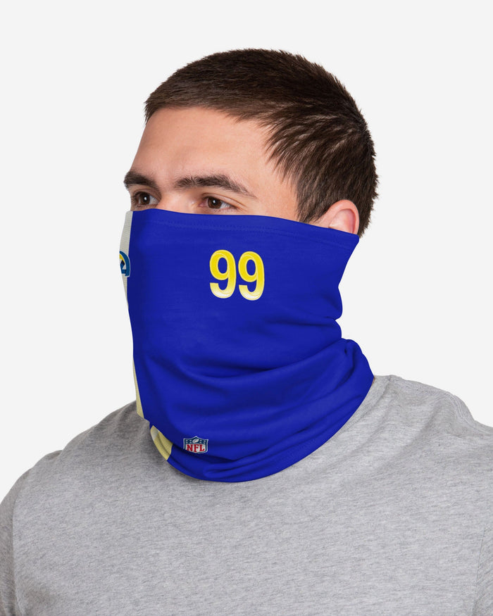 Aaron Donald Los Angeles Rams On-Field Sideline Gaiter Scarf FOCO - FOCO.com