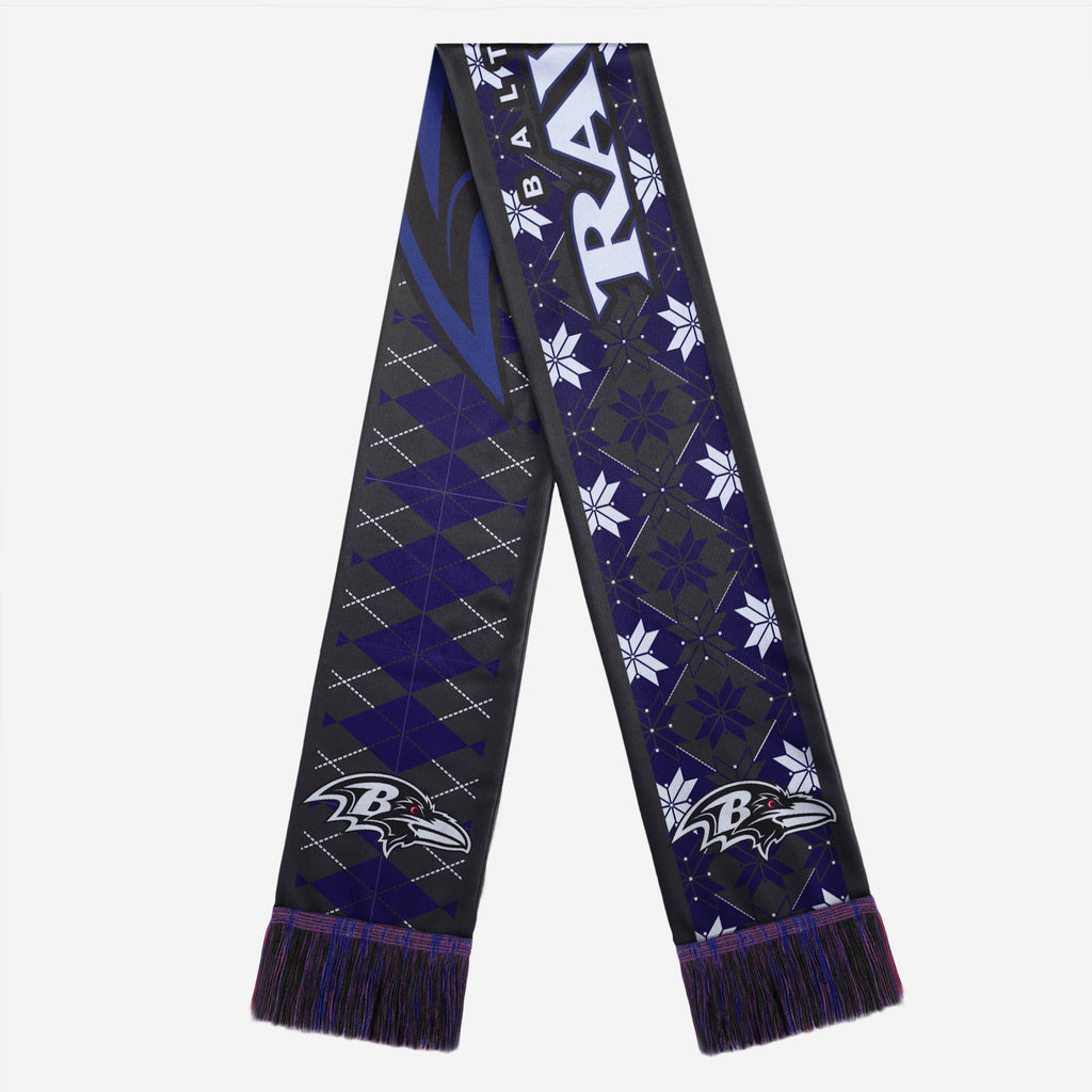 Baltimore Ravens Reversible Ugly Scarf