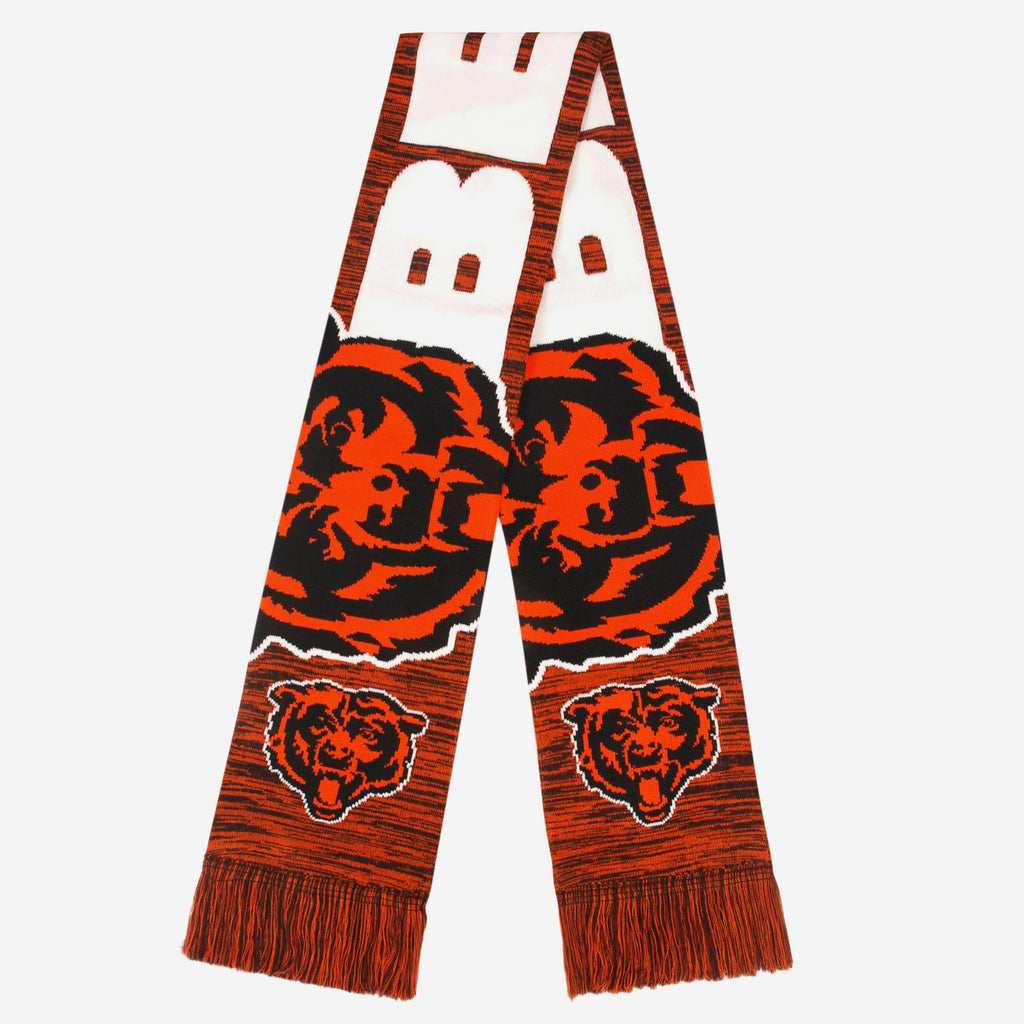 Chicago Bears Wordmark Colorblend Scarf FOCO - FOCO.com