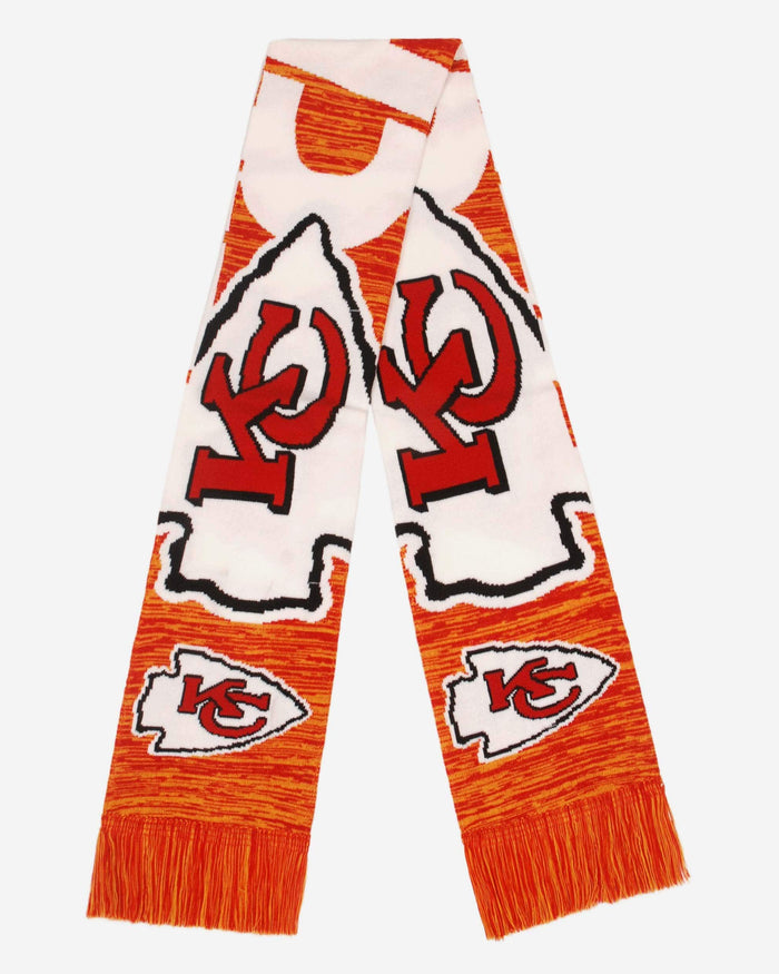 Kansas City Chiefs Wordmark Big Logo Colorblend Scarf FOCO - FOCO.com