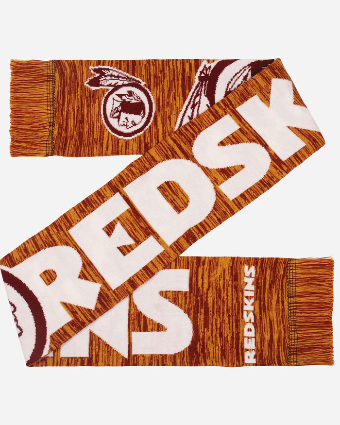 Washington Redskins Wordmark Big Logo Colorblend Scarf FOCO - FOCO.com