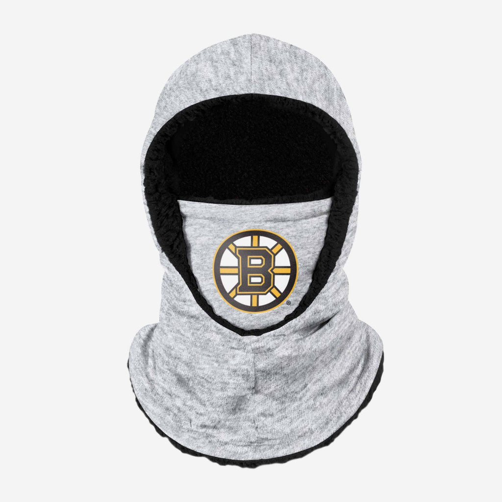 Boston Bruins Heather Grey Big Logo Hooded Gaiter FOCO - FOCO.com