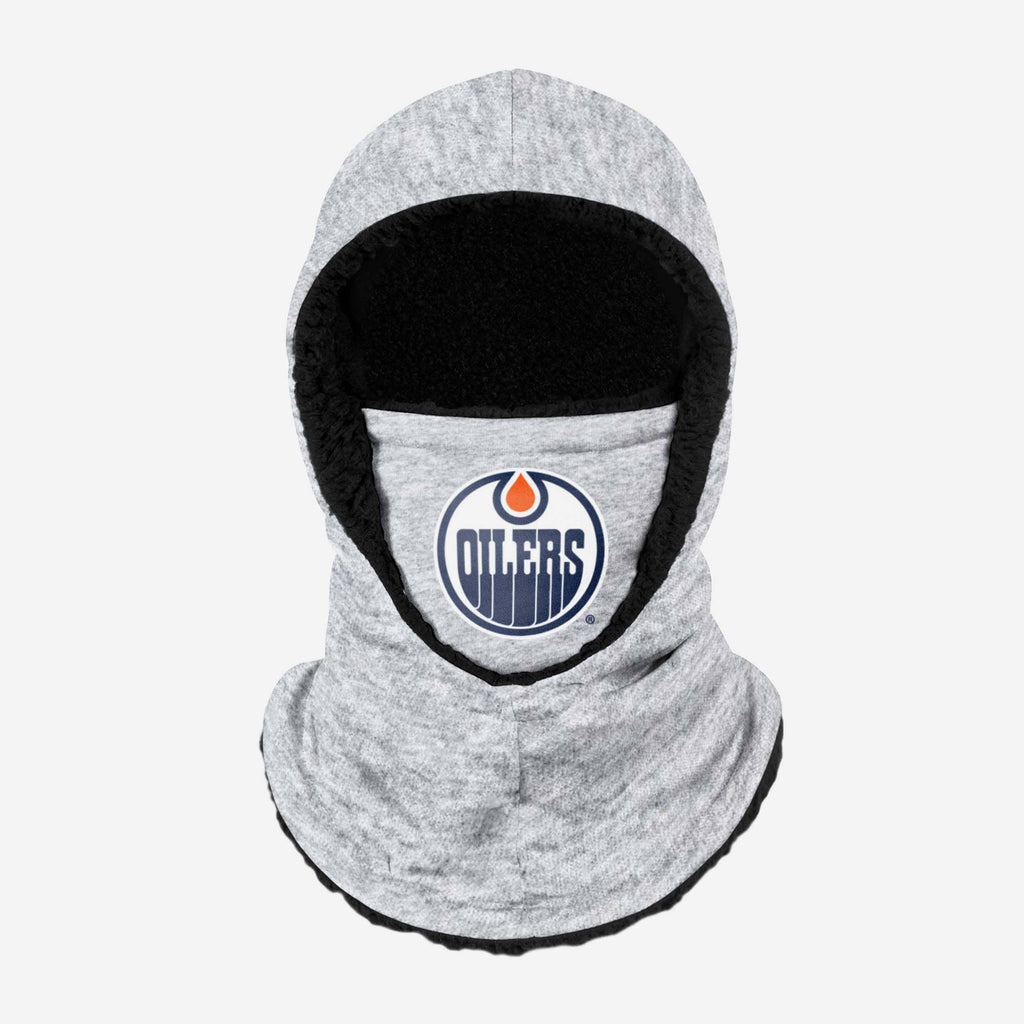 Edmonton Oilers Heather Grey Big Logo Hooded Gaiter FOCO - FOCO.com