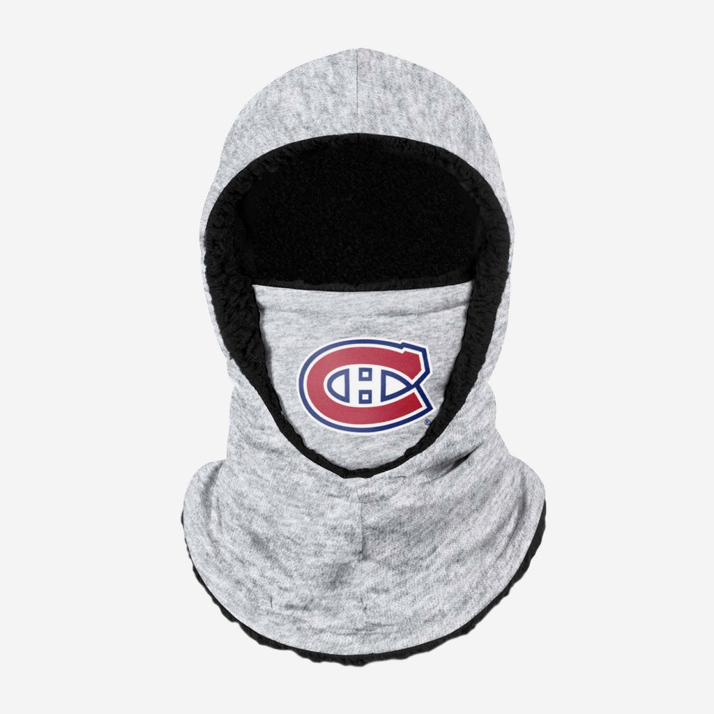 Montreal Canadiens Heather Grey Big Logo Hooded Gaiter FOCO - FOCO.com