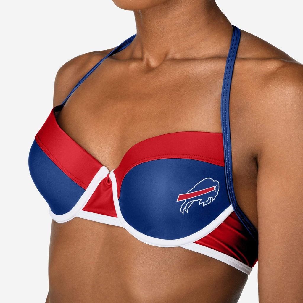 Buffalo Bills Team Logo Bikini Top FOCO - FOCO.com