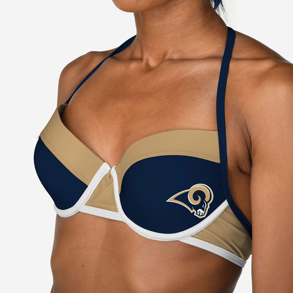 Los Angeles Rams Team Logo Bikini Top FOCO - FOCO.com