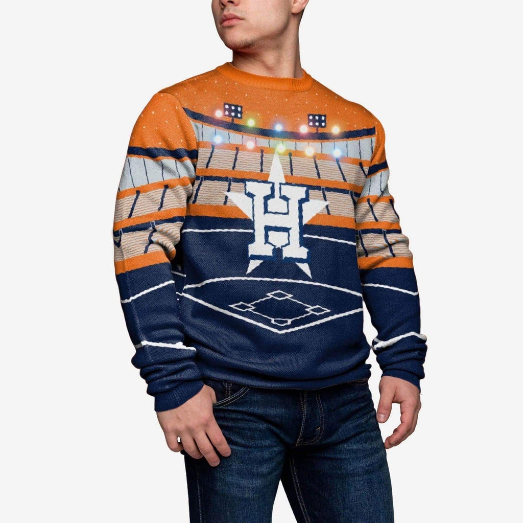 Houston Astros Light Up Bluetooth Sweater FOCO - FOCO.com