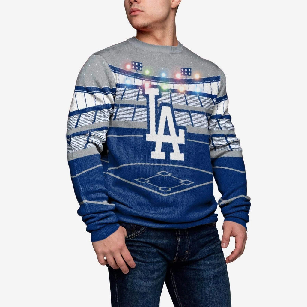 Los Angeles Dodgers Light Up Bluetooth Sweater FOCO - FOCO.com