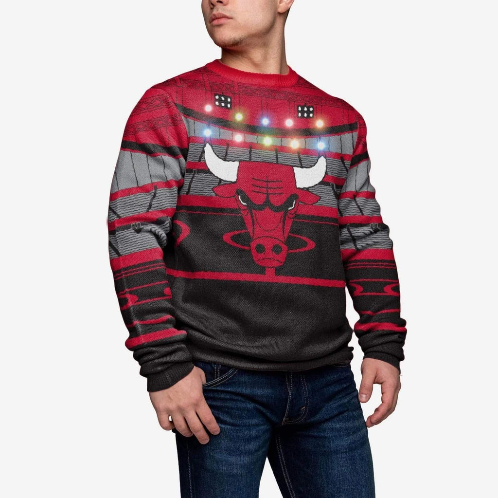 Chicago Bulls Light Up Bluetooth Sweater FOCO - FOCO.com
