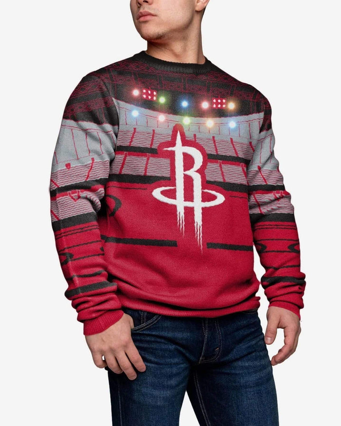 Houston Rockets Light Up Bluetooth Sweater FOCO M - FOCO.com