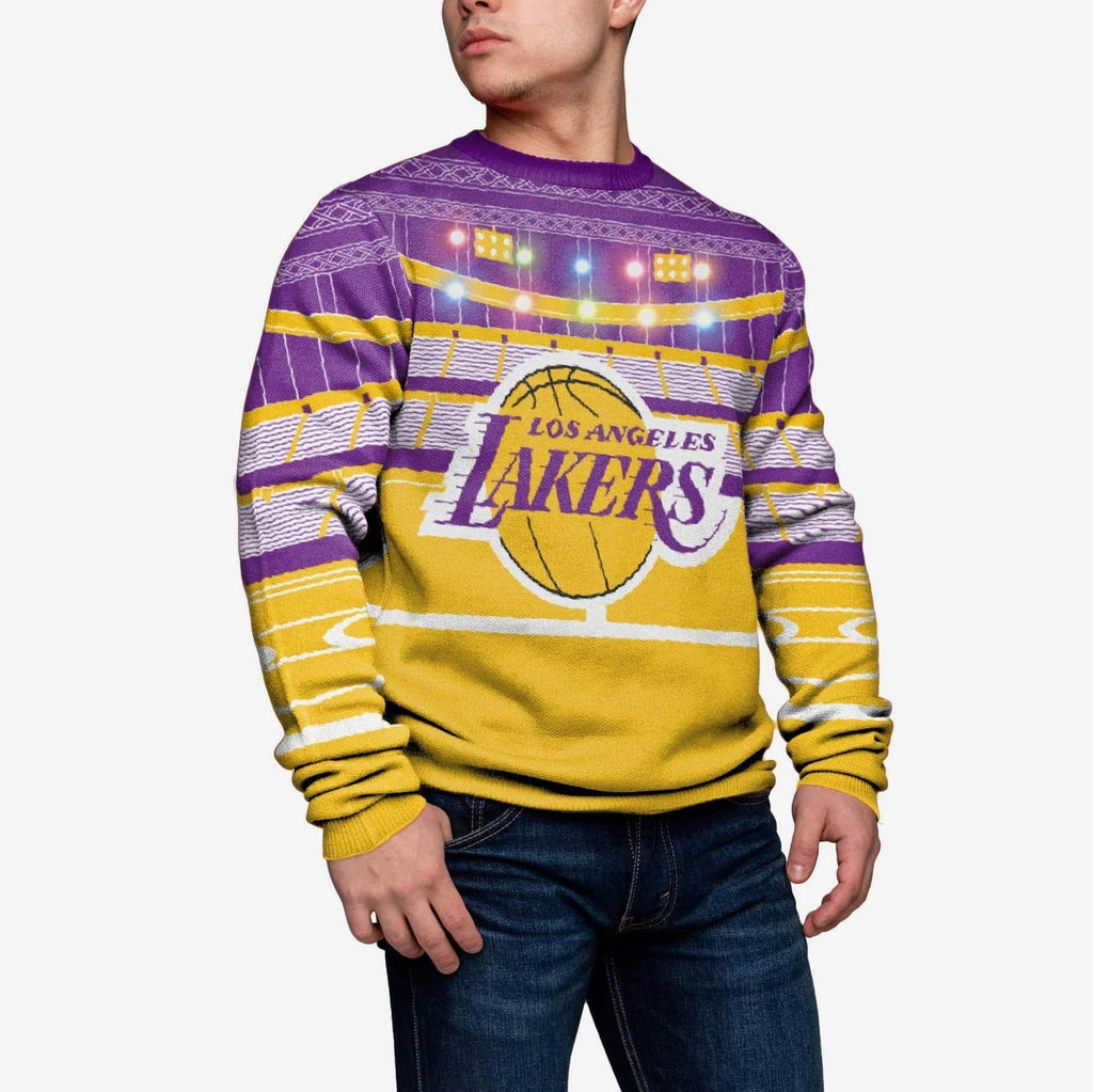 Los Angeles Lakers Light Up Bluetooth Sweater FOCO - FOCO.com