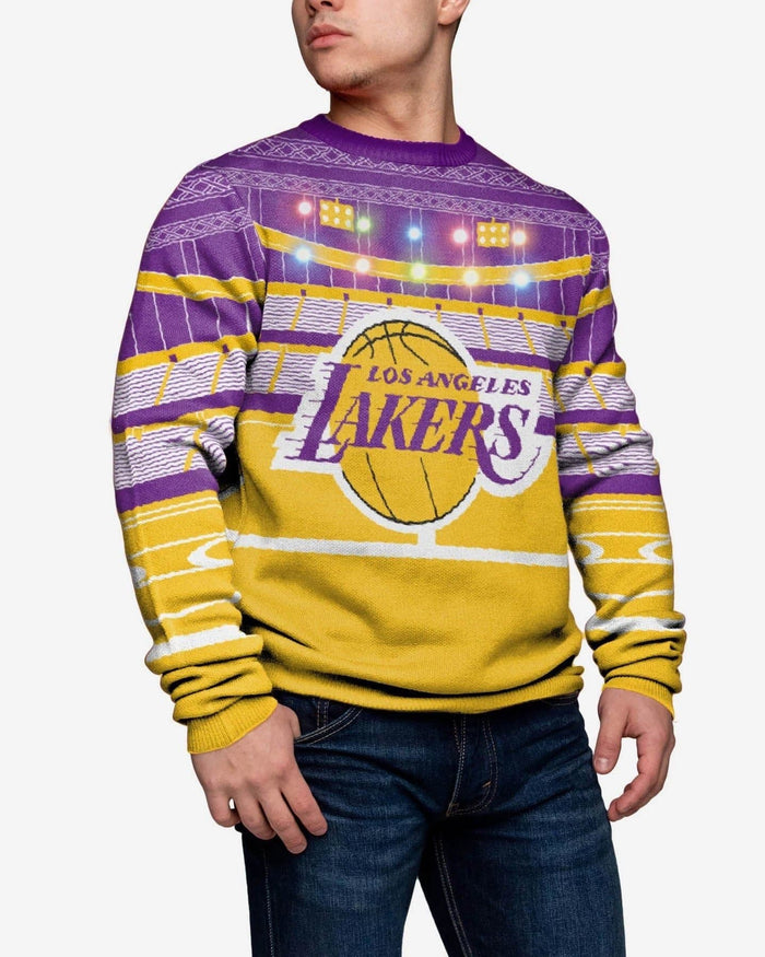 Los Angeles Lakers Light Up Bluetooth Sweater FOCO L - FOCO.com