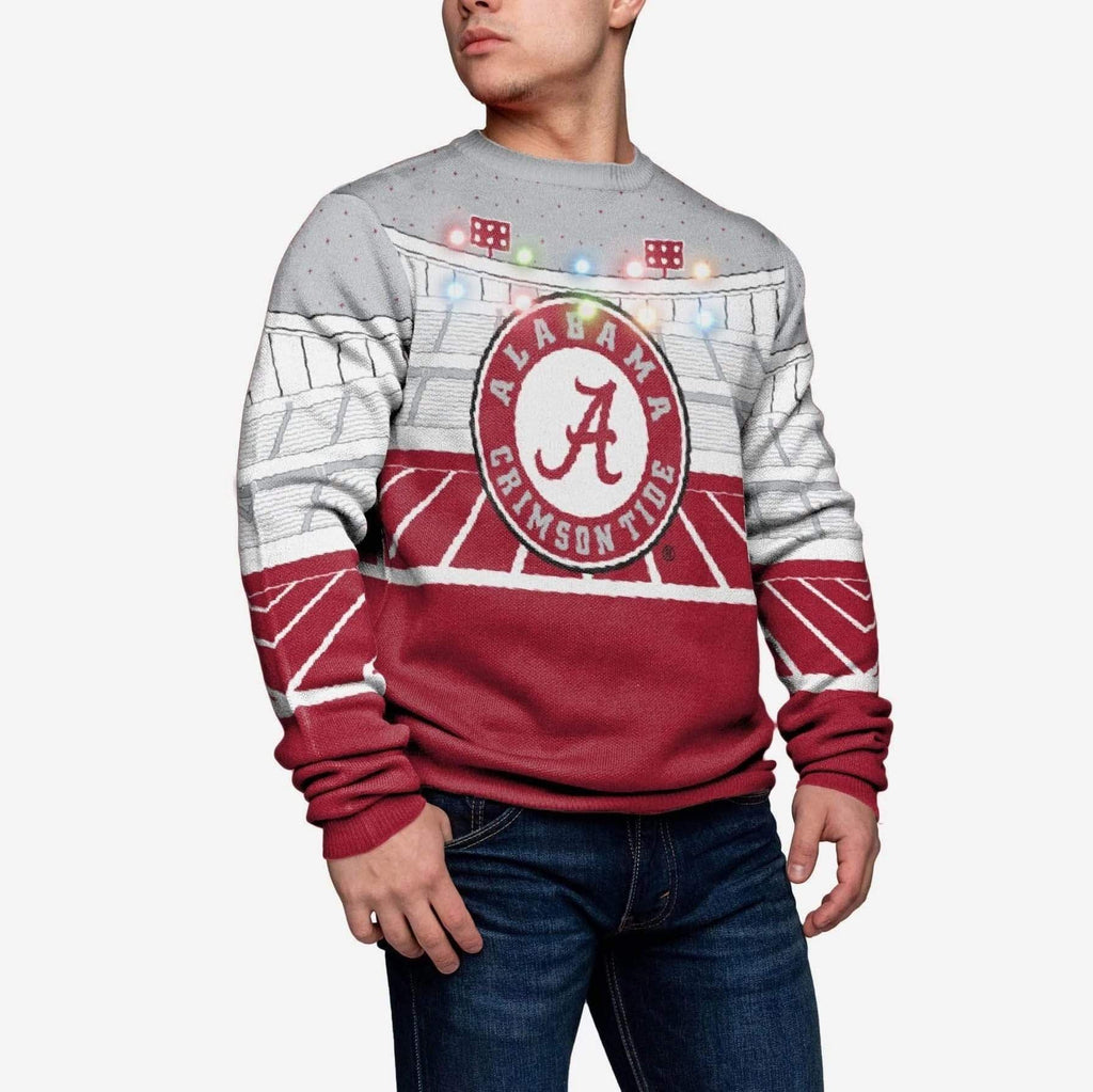 Alabama Crimson Tide Light Up Bluetooth Sweater FOCO M - FOCO.com